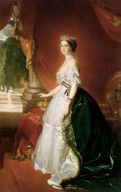 Franz Xaver Winterhalter - Portrait of Empress Eugenie of France (1826-1920), born de Montijo, Countess of Teba