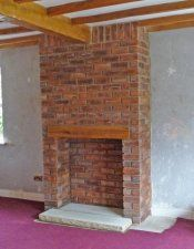 Brick built false chimney breast Stove Installation, Chimney Breast, Gas Logs, Wood Burner, Brick Building, Fireplace Mantle, New Living Room, New Homes, Wood Stoves