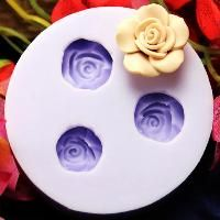 3 flower large petal silicone mold