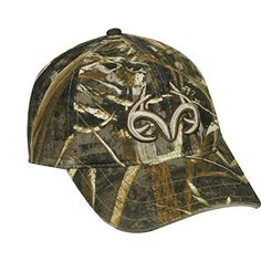 Realtree Buck Horn Camo Hunting Hat (Realtree Max-5). Realtree Camo cap. 6 Panel Mid-Low profile Unstructured Cap. One size Fits Most. Velcro Closure.