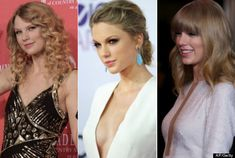 Taylor Swift nose Job before after | Taylor Swift Boob Job Rumors Sparked By Singer's New Cleavage Baring ...