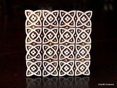 REDUCED Indian Hand Carved Wood Block Stamp- Large Medieval Pattern Indian Hand Carved Wood Block Rubber Stamp – Large Medieval Pattern from Charancreations on Etsy Pattern Art, Pattern Design, Stencil, Medieval Pattern, Hand Carved, Carved Wood, Ancient Indian Art, Seasoned Wood, Mandala