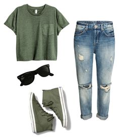"""Untitled #94"" by julia3smith on Polyvore featuring Keds and Ray-Ban"
