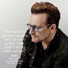 U2 > News > 'Man of the Year' - Later this month Bono will be honoured as the first 'Man of the Year' at Glamour Magazine's annual 'Women of the Year' awards.