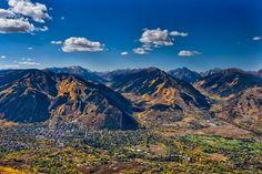 Aspen, Colorado in fall colors