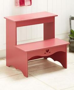 #616215034 Classic Country Barn Door Red Step Stool by sensationaltreasures