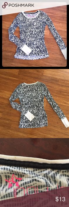 PACSUN Zebra long sleeve shirt In good condition, aside from the little bit of marks on shirt as pictured. PacSun Tops Tees - Long Sleeve