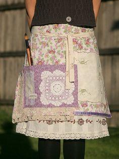 custom apron using doilies, tea towels... yeahso.tumblr.com