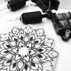 """Tonight... #mandala #mandalatattoo #dotwork #dotworktattoo #stencil #tattoo"" Photo taken by @chrissimsart on Instagram, pinned via the InstaPin iOS App! http://www.instapinapp.com (07/23/2015)"
