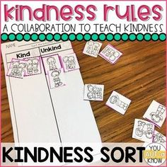 Friendship and Kindness Activities Teaching Kindness, Kindness Activities, Therapy Activities, Bullying Activities, Toddler Activities, Behaviour Management, Classroom Management, Behavior, Help Teaching
