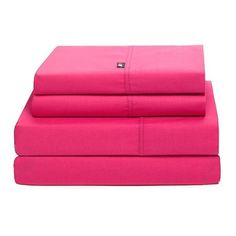 Tommy HilfigerSignature 200 Thread Count Sheet Set-We chose a solid sheet set with the patterned bedding and this one was just the right shade of pink from @wayfair