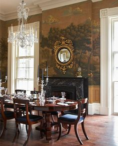 hall is painted in Rhett Pumpkin, from the Colors of Historic Charleston collection.
