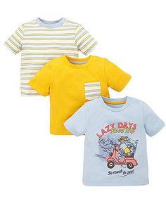"""Футболки """"Lazy Days"""" - 3 шт. - Футболки, майки, топи - Хлопчики (6 - 36 місяців) - Хлопчики"""