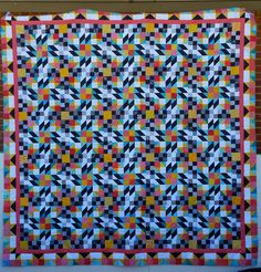 In the desert: Grand Illusion Mystery Quilt is a Top!