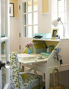 I want a set up like this in liu of a nightstand. Love the designated spot for the purse.