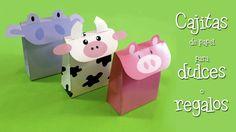 Cajita de papel para dulces de animales