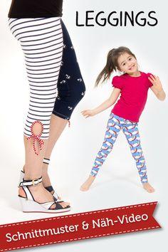 Mit unserem pattydoo Tutorial Nähvideo könnt ihr eine Leggings für Frauen und Kinder ganz einfach selbernähen!