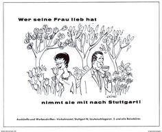 Werbung - Original-Werbung/Anzeige 1962 - STUTTGART / CARTOON (GRIFFEL) - VERKEHRSAMT - ca. 140 x 110 mm