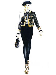 Piste Fashion Illustration Moschino par sunnygu sur Etsy