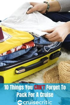 What Not to Forget On a Cruise: 10 Things to Remember to Pack Packing For A Cruise, Cruise Tips, One Suitcase, Excess Baggage, Great Vacations, Packing Light, Travel Style, Traveling By Yourself, Forget