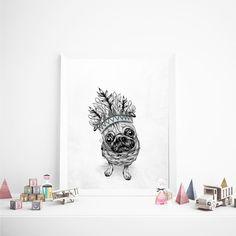 Enmarcado: Indian Pug / Art Frame