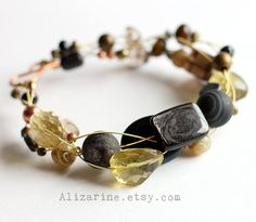 Sunflower  StrungOut guitar string bracelet by alizarine on Etsy, $50.00