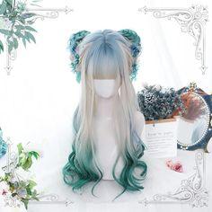 Kawaii Hairstyles, Pretty Hairstyles, Wig Hairstyles, Anime Wigs, Anime Hair, Cosplay Hair, Cosplay Wigs, Wig Styles, Curly Hair Styles