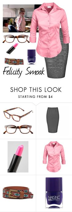 """""""Felicity Smoak 1.03"""" by mary-grace-see ❤ liked on Polyvore featuring Steven Alan, Ally Fashion, NYX, Forever 21 and Nails Inc."""