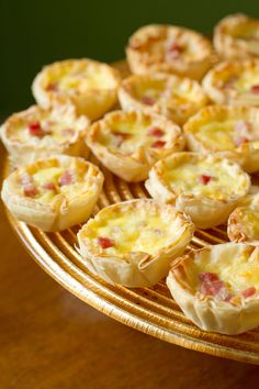 Mini Quiche Bites -- it just isn't a baby shower without itty bitty bites to snack on!