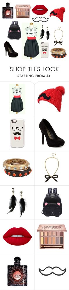 """""""Moustaches!"""" by allwayzbunicorn ❤ liked on Polyvore featuring Casetify, Michael Antonio, Betsey Johnson, Lime Crime, Urban Decay, Yves Saint Laurent, mustache and moustache"""