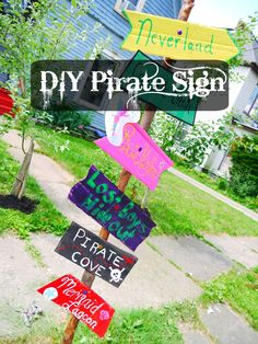 Nautical/Pirate themed birthday Party-Create DIY Signs