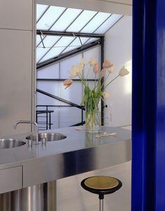 Richard Rogers home, kitchen, London. photography by Richard Waite