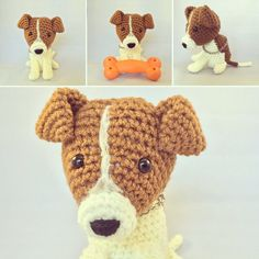 Jack Russel Terrier Amigurumi Toy Plush by Viol3t-Om3ga.deviantart.com on @DeviantArt