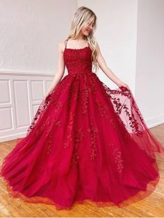 Backless Burgundy Lace Prom Dresses, Open Back Wine Red Lace Formal Evening Dresses Straps Prom Dresses, Cute Prom Dresses, Long Prom Gowns, Grad Dresses, Tulle Prom Dress, Dress Long, Short Prom, Tulle Lace, Pageant Dresses