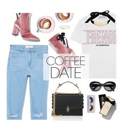 """""""Coffee Date"""" by natyleygam ❤ liked on Polyvore featuring PacSun, Être Cécile, Jo Malone, Acne Studios, Fendi, Featherella, Trina Turk, Robert Clergerie, David Yurman and CoffeeDate"""