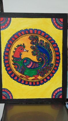 Discover recipes, home ideas, style inspiration and other ideas to try. Hall Painting, Mural Painting, Fabric Painting, Figure Painting, Madhubani Art, Madhubani Painting, Kalamkari Painting, Indian Folk Art, Colorful Wall Art