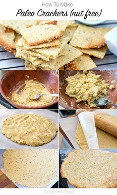 Tahini and Wholegrain Mustard Crackers | http://eatdrinkpaleo.com.au/paleo-crackers-with-tahini-and-wholgrain-mustard/