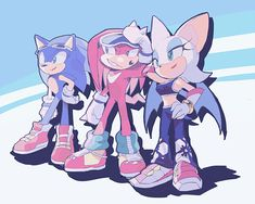 Sonic, Knuckles and Rouge Sonic The Hedgehog, Hedgehog Movie, Hedgehog Art, Shadow The Hedgehog, Shadow And Amy, Sonic Funny, Rouge The Bat, Sonic Franchise, Sonic Heroes
