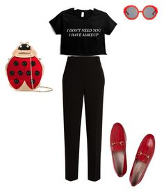 """so simple"" by nori-nagy on Polyvore featuring The Row, Charlotte Olympia, Gucci and Preen"
