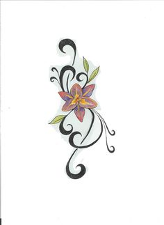 Design for a foot tattoo... The petals are to ascend the foot towards the ankle