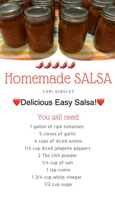 Salsa Canning Recipes, Pressure Canning Recipes, Canning Salsa, Hot Sauce Canning Recipe, Canning Vegetables, Canning Tomatoes, Veggies, Homemade Canned Salsa, Fresh Canned Salsa Recipe