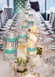 17 centros de mesa para bodas con velas flotantes                                                                                                                                                                                 Más