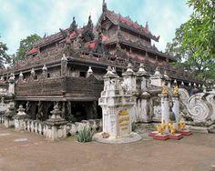 Shwenandaw Monastery in Mandalay.