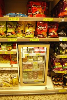 Cross merchandising - crisps aisle