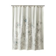 Threshold™ Floral Shower Curtain - Aqua Quick Information