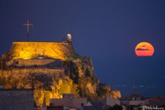 Full Moon of August by astro_landscape astro_photo astrocorfu astronomy astrophotography astrovox corfu fortress full moon Corfu Island, Corfu Greece, Moon Rise, Full Moon, Astronomy, Monument Valley, Tourism, Places To Visit, Royalty Free Stock Photos