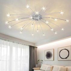 Living Room Lighting, Bedroom Lighting, Home Lighting, Led Hallway Lighting, Modern Led Ceiling Lights, Star Lights On Ceiling, Bedroom Light Fixtures, Ceiling Light Fixtures, Home Ceiling