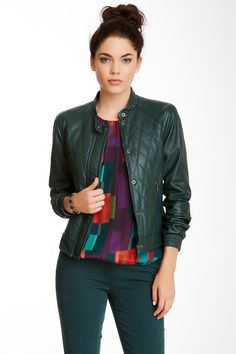 Antoine Quilted Leather Jacket (like the top too)
