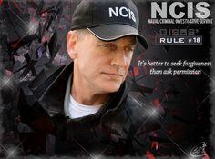 Gibbs' Rule #18 Gibbs Ncis, Ncis Gibbs Rules, Leroy Jethro Gibbs, Ncis Series, Serie Ncis, Tv Series, Cops Tv Show, Ncis New, Mark Harmon