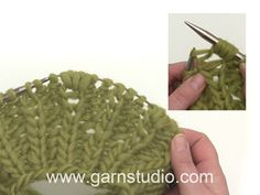 In this DROPS video we show how we work 5 stitches in a Fisherman`s rib stitch (= knit in the stitch under the next stitch and increase 4 stitches). Drops Design, Rib Stitch Knitting, Free Knitting, Laine Drops, Magazine Drops, Crochet Diagram, Sweater Knitting Patterns, Yarn Over, Needles Sizes